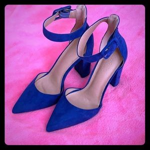 Electric Blue Strap Heels